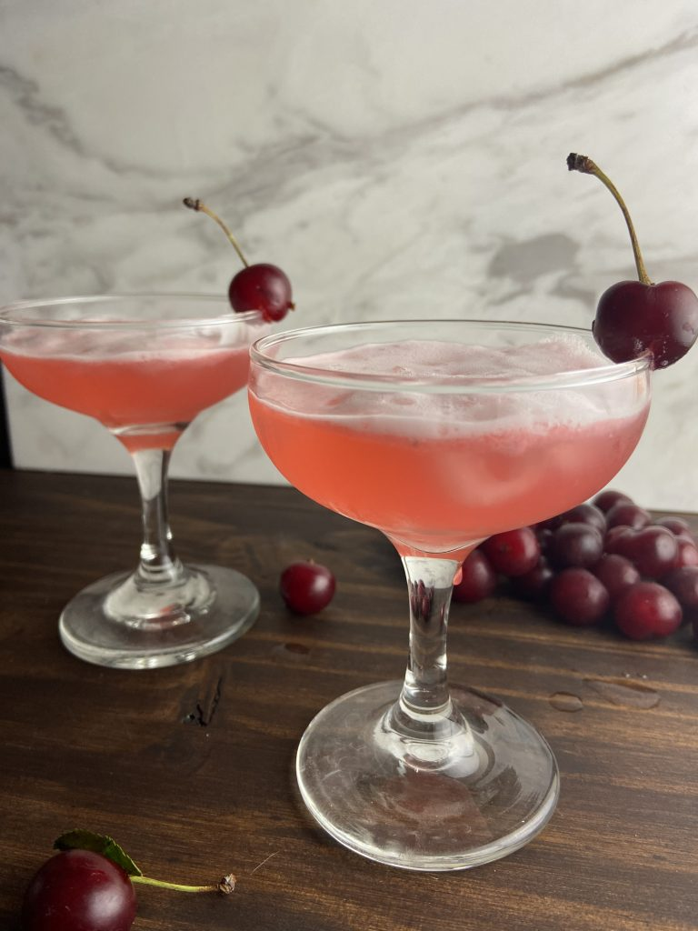 Two Pink Lady Cocktails