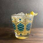 Bourbon and apricot brandy hinted with lemon in cold rocks glass