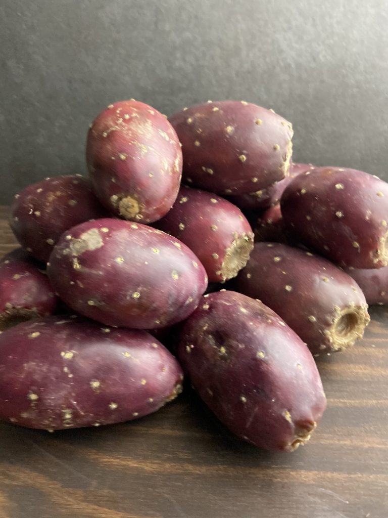 Prickly pears fresh from the Mexican grocer