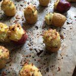 fresh potato popper bites sprinkled with paprika